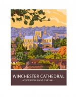 Winchester Cathedral from St Giles' Hill